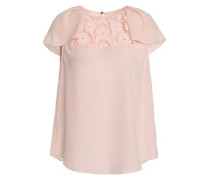 Baja Bound Embroidered Crepe Blouse Pastel Pink