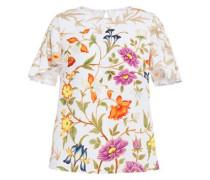 Floral-print Cloqué Blouse White