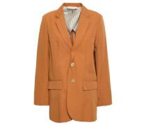 Garisa Cotton-blend Twill Blazer Copper