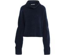 Brushed Wool-blend Turtleneck Sweater Petrol