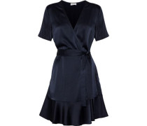 Micah silk-satin mini wrap dress