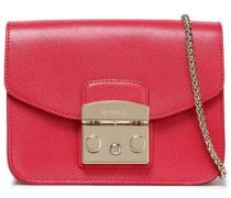 Pebbled-leather Shoulder Bag Red Size --