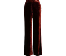 Ashbury Velvet Wide-leg Pants Copper Size 0