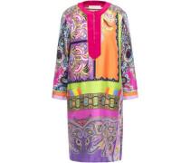 Silk-twill Dress Multicolor