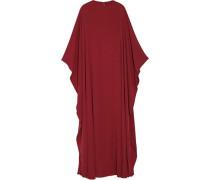 Draped Silk-crepe Gown Claret