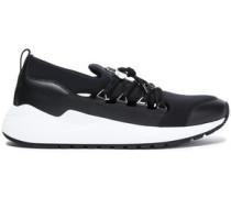 Leather-paneled Scuba Sneakers Black