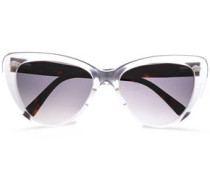 Cat-eye Acetate Sunglasses Off-white Size --