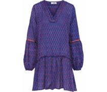 Zigy printed cotton-gauze mini dress