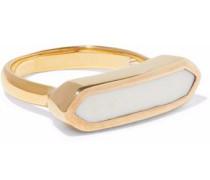 Baja 18-karat gold vermeil chalcedony ring