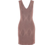 Metallic jacquard-knit mini dress