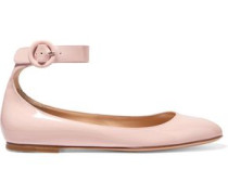 Patent-leather ballet flats