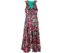 Fil Coupé Crepe De Chine Midi Dress Multicolor