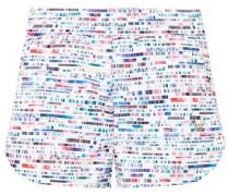 Glitch Printed Scuba Shorts White
