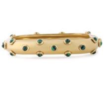 Oxidized Gold-tone Malachite Bangle Gold Size --