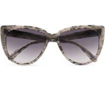 Cat-eye Printed Acetate Sunglasses Light Gray Size --