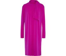 Gulia Tie-neck Stretch-crepe Dress Magenta