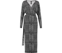 Dolman printed stretch-jersey wrap dress