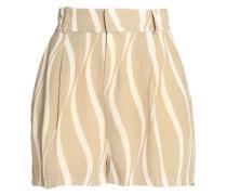 Printed crepe shorts