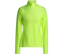 Stretch-jersey turtleneck top