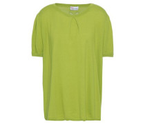 Woman Cashmere And Silk-blend Sweater Lime Green