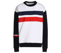 Striped cotton-terry sweatshirt