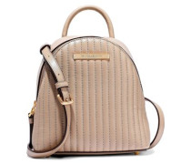 Mini Convertible Quilted Leather Backpack Sand Size --