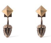 Burnished gold-tone earrings