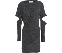 Cutout Mélange Jersey Mini Dress Anthracite