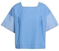 Cotton-chambray Top Light Blue