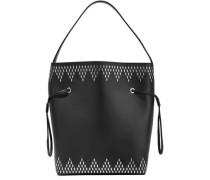 Studded Leather Bucket Bag Black Size --