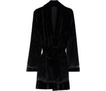 Woman Coley Belted Devoré-velvet Kimono Black