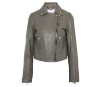 Leather Biker Jacket Mushroom