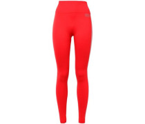 Printed Stretch Leggings Tomato Red  /L