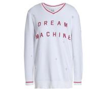 Printed Cotton Sweatshirt White