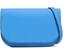 Leather Shoulder Bag Blue Size --