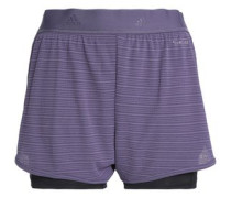 Chill Layered Jacquard And Jersey Shorts Violet