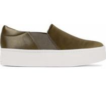 Satin platform slip-on sneakers