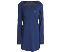 Cotton and modal-blend pajama top