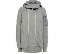 Cotton-blend Hooded Jacket Gray