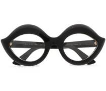 Cat-eye Acetate Optical Glasses Black Size --