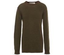Woman Cashmere Sweater Army Green