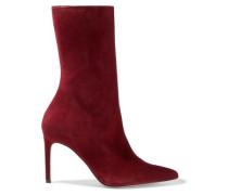 Cuba Suede Boots Crimson