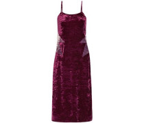 Starburst crushed-velvet slip dress