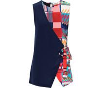 Woman Sedona Printed Silk Crepe De Chine Wrap Top Multicolor