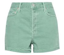 Distressed Denim Shorts Mint  4