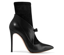 Vittoriale Suede And Leather Ankle Boots Black