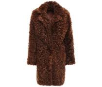 Reversible Shearling Coat Brown