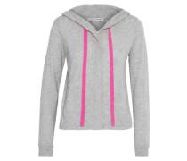 Mélange cashmere hoodie