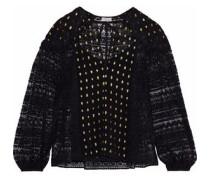 Wondering Fil Coupé Georgette And Cotton-blend Corded Lace Blouse Black