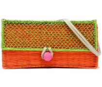 Woven Raffia Shoulder Bag Lime Green Size --